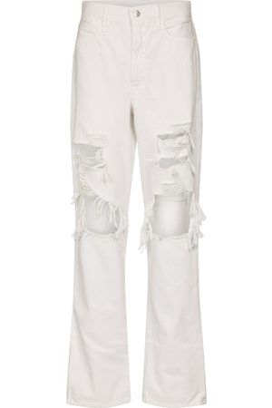 Frame Le Hollywood high-rise straight jeans