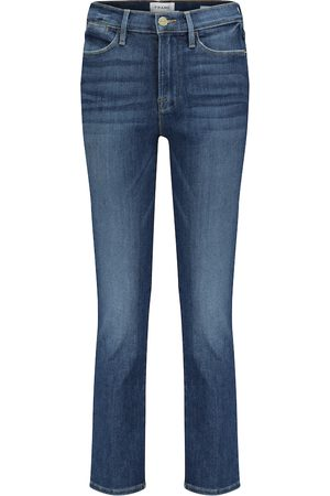 Frame Le High cropped straight jeans