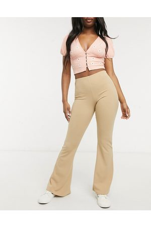 New Look Jersey flares in stone-Tan