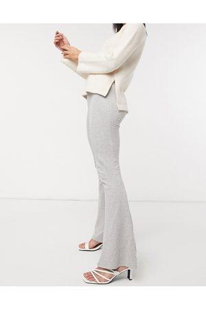 ASOS Kick flare trouser in grey marl