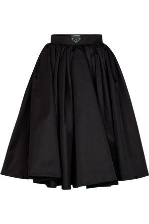Prada Pleated re-nylon midi skirt