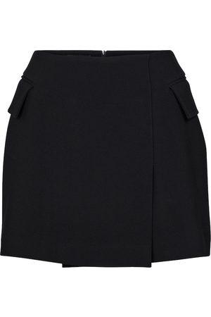 ALEX PERRY Izzy crêpe satin miniskirt