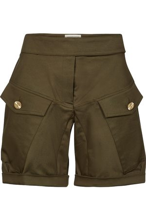 ALEXANDRE VAUTHIER High-rise stretch-cotton shorts
