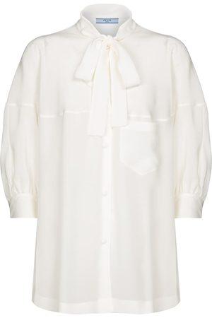Prada Tie-neck silk blouse