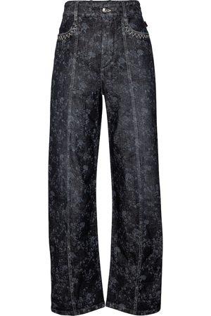Chloé Floral high-rise wide-leg jeans