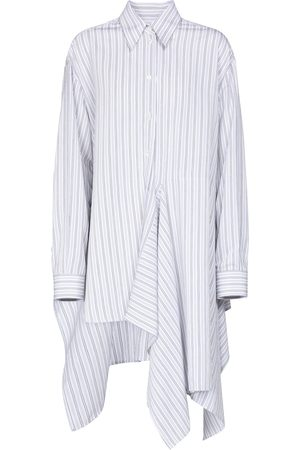 MM6 MAISON MARGIELA Striped asymmetric shirt