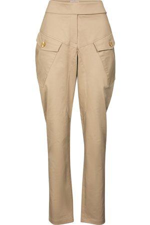 ALEXANDRE VAUTHIER High-rise cotton-blend pants
