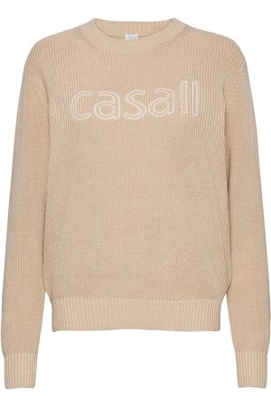Casall Knitted Logo Sweater Strikket Genser Creme