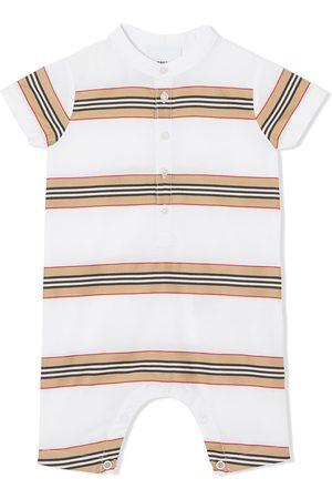 Burberry Striped button-up playsuit