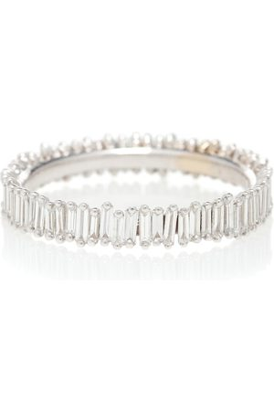 Suzanne Kalan Dame Ringer - 18kt white gold and diamond eternity ring