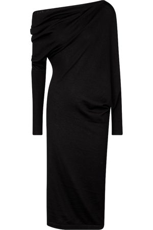 Tom Ford Cashmere and silk off-shoulder midi dress