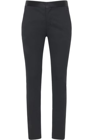 Balmain Collection Fit Wool Pants W/satin Band