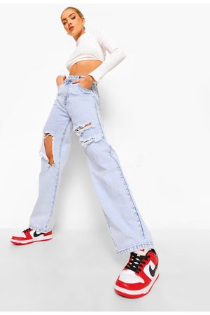 Boohoo Dame Boyfriend - Boyfriend Jeans With Busted Knees