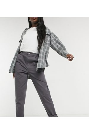 ASOS ASOS DESIGN Tall chino trousers in charcoal-Grey