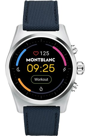Mont Blanc Summit Lite Smartwatch Grey/Blue Fabric Strap