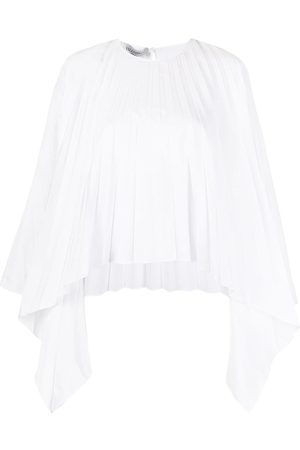 VALENTINO Dame Topper - Pleated bell-sleeves top