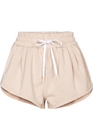 Miu Miu Dame Shorts - Cotton jersey shorts