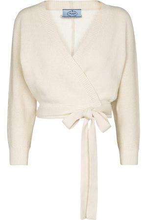 Prada Dame Cardigans - Cropped wool and cashmere cardigan