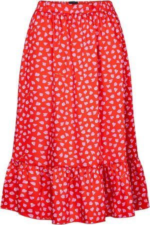 Marc Jacobs Dame Midiskjørt - Heart-print midi skirt