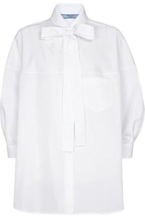 Prada Dame Langermede - Cotton poplin shirt