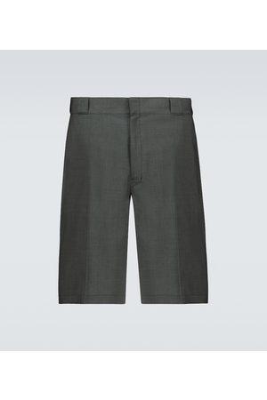 Prada Tailored wool poplin bermuda shorts