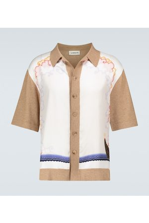 Lanvin Printed cotton-blend shirt