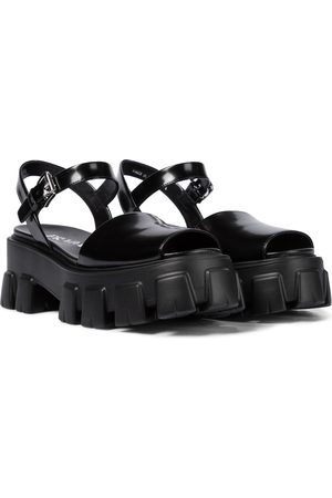 Prada Patent-leather platform sandals