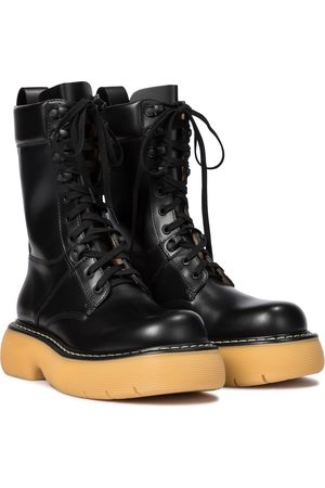Bottega Veneta The Bounce leather combat boots