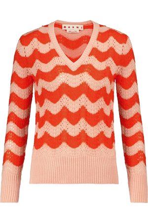 Marni V-neck mohair-blend sweater