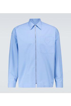 Prada Zipped cotton shirt