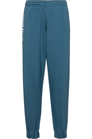 ROTATE Logo cotton jersey trackpants