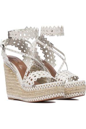 Alaïa Leather platform espadrille sandals