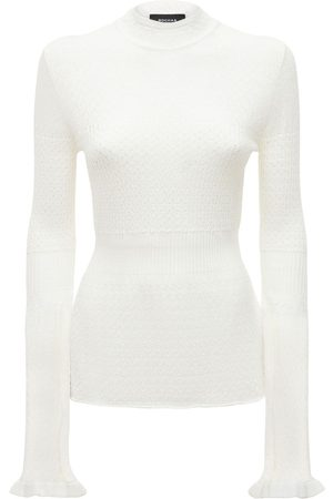 Rochas Flared Cable Knit Sweater