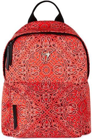 Giuseppe Zanotti Herre Ryggsekker - Bud bandana-print backpack