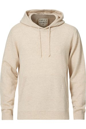 People´s Republic of Cashmere Herre Hettegensere - Cashmere Hoodie Oatmilk