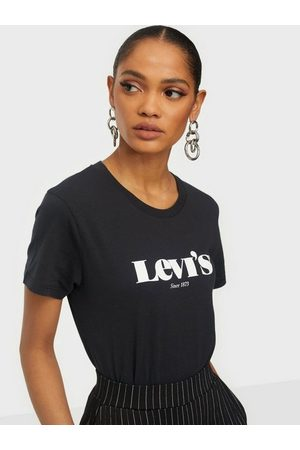 Levi's Dame Kortermede - The Perfect Tee New Logo Ii Black