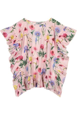 MONNALISA Floral cotton kaftan