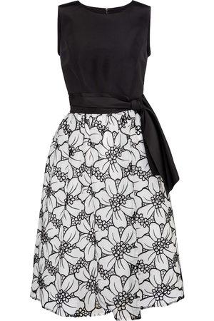Carolina Herrera Floral silk faille and organza midi dress