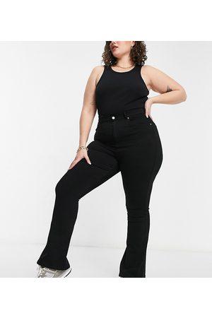 Dr Denim Plus Moxy flare jeans in black