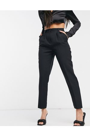 ASOS Dame Chinos - Hourglass tailored smart tapered trousers in black