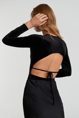 Gina Tricot Velvet open back body