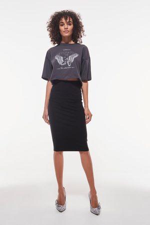 Gina Tricot Basic midi skirt