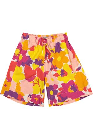 Il gufo Jente Shorts - Floral cotton shorts