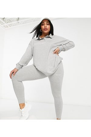 PUBLIC Leggings with slogan in marl grey