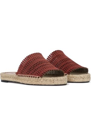 Alaïa Dame Espadrillos - Laser-cut leather espadrille sandals