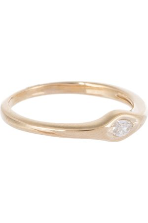 JACQUIE AICHE Single Marquise 14kt gold and diamond ring