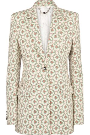 Paco rabanne Floral jacquard blazer