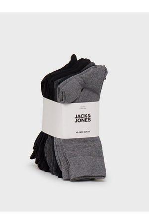 Jack & Jones Jacjens Sock 10 Pack Noos Strømper Dark Grey Melange Dgm - Lgm - Lgm - Blac
