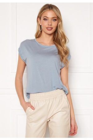 Vero Moda Mava Plain SS Top Blue Fog L