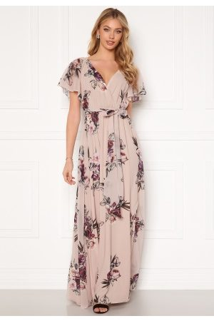 Goddiva Flutter Floral Maxi Dress M (UK12)